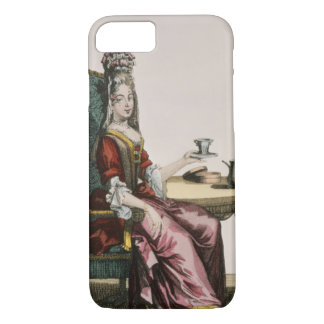 Lady Taking Coffee, fashion plate, c.1695 (engravi iPhone 8/7 Case