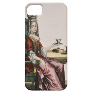 Lady Taking Coffee, fashion plate, c.1695 (engravi iPhone SE/5/5s Case