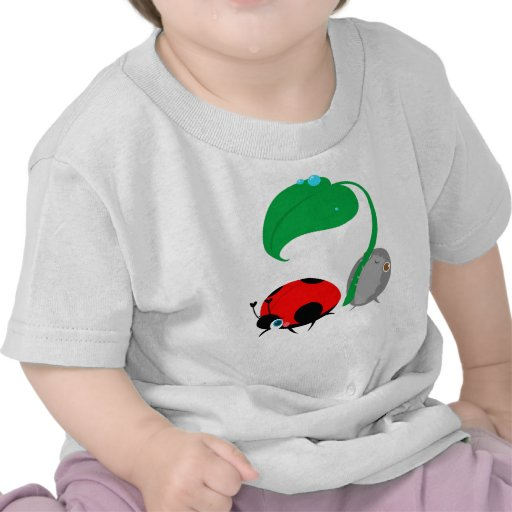 """Lady & The Pillbug"" Baby Top Tee Shirt"