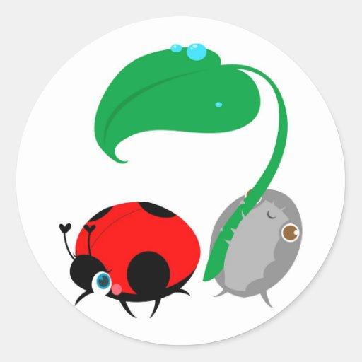 """Lady & The Pillbug"" Stickers"