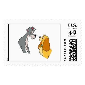 Lady & the Tramp's Lady and Tramp In Love Disney Postage Stamp