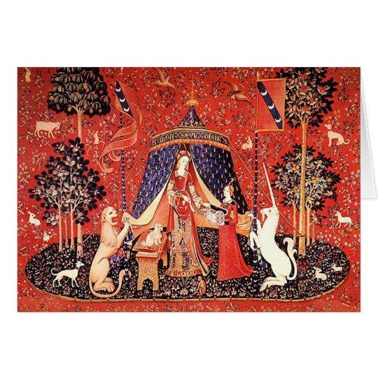 """Lady & the Unicorn"" Card"