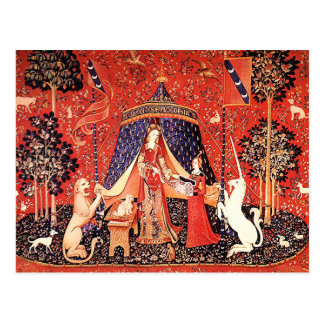 """Lady & the Unicorn"" Postcard"