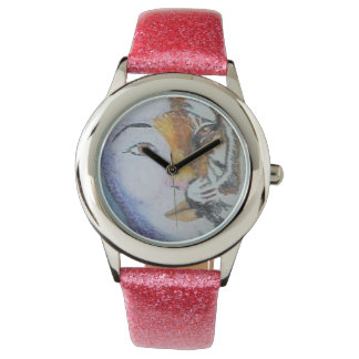 Lady Tiger Custom Glitter Strap Watch
