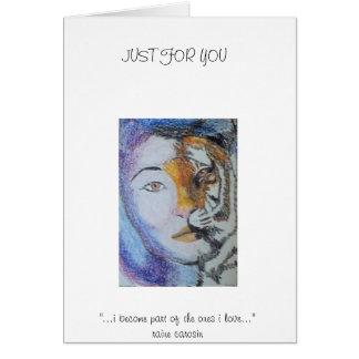 Lady Tiger - Raine Carosin.jpg Greeting Card