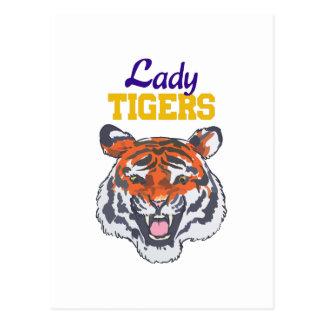 LADY TIGERS POSTCARD