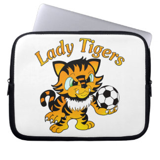 Lady Tigers Soccer Computer Sleeve