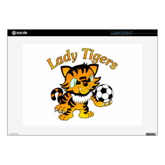 """Lady Tigers Soccer Decal For 15"""" Laptop"""