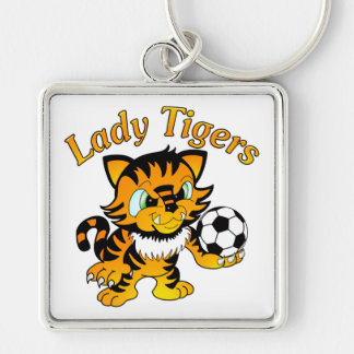 Lady Tigers Soccer Keychain