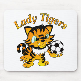 Lady Tigers Soccer Mouse Pad
