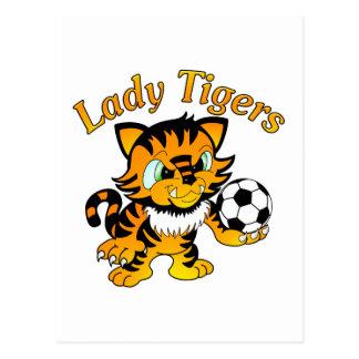 Lady Tigers Soccer Postcard