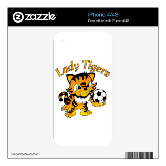 Lady Tigers Soccer Decals For The iPhone 4S