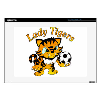 """Lady Tigers Soccer Skin For 15"""" Laptop"""
