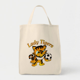 Lady Tigers Soccer Tote Bag