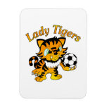 Lady Tigers Soccer Vinyl Magnet