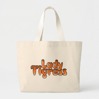 lady tigress large tote bag