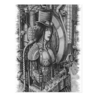 Lady Time Postcard