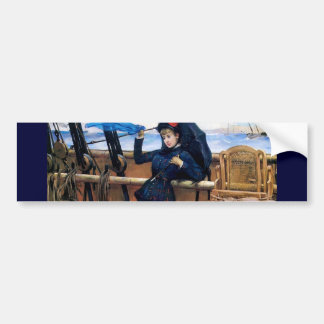 Lady Travelling by Sea painting Bumper Sticker