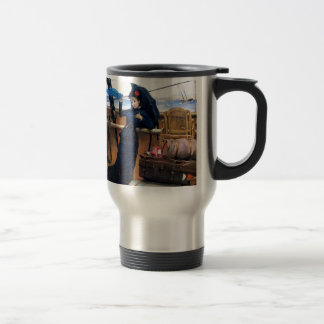 Lady Travelling by Sea painting Travel Mug