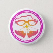 Lady Triathlon, woman triathlon Button