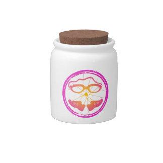 Lady Triathlon, woman triathlon Candy Jar
