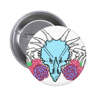Lady Triceratops Button
