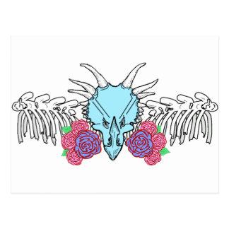 Lady Triceratops Postcard