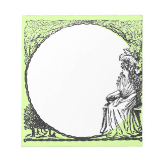 Lady under a tree notepad