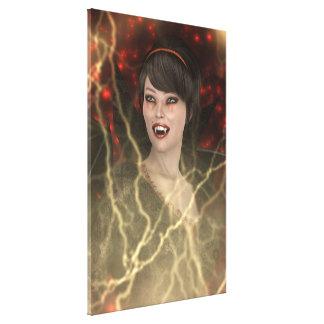Lady Vamp Canvas Print