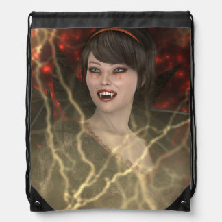 Lady Vamp Drawstring Bag
