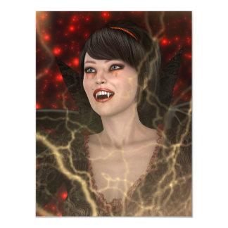 Lady Vamp Magnetic Invitations