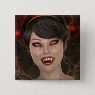 Lady Vamp Pinback Button