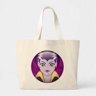 Lady Vampire Tote Bags