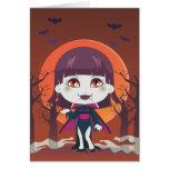 Lady Vampire Greeting Cards