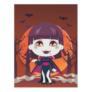 Lady Vampire Postcard
