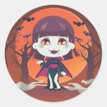 Lady Vampire Stickers