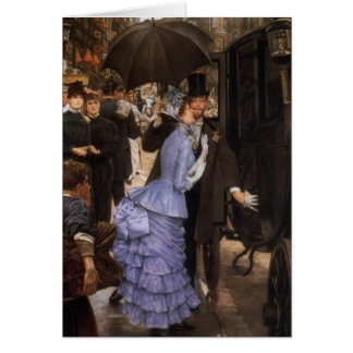 Lady Victorian Traveler Card