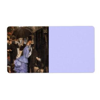 Lady Victorian Traveler Label