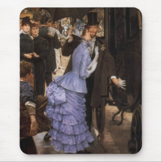Lady Victorian Traveler Mouse Pad