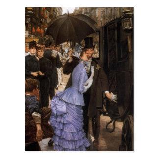 Lady Victorian Traveler Postcard
