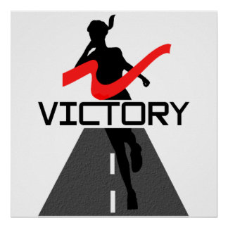 Lady Victory Runner Poster