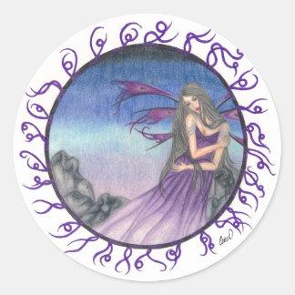 Lady Violet Classic Round Sticker