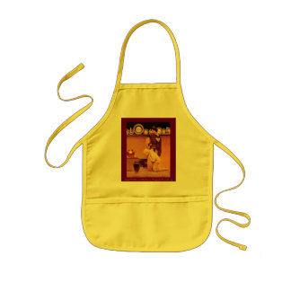 Lady Violetta and the Knave, Kidsize (in yellow) Kids' Apron