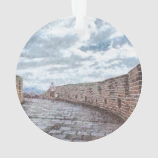 Lady walking on the Great Wall of China Ornament