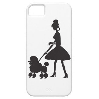 Lady Walking Poodle iPhone 5 Covers