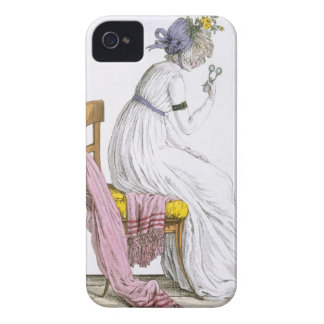 Lady wearing a negligee from Costume Parisien iPhone 4 Cover