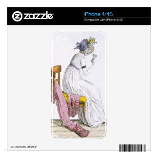 Lady wearing a negligee from Costume Parisien Skins For iPhone 4