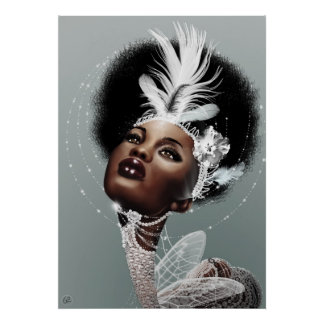 Lady White Poster