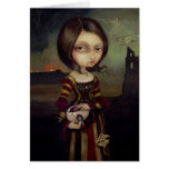 """""""Lady with a Bosch Egg"""" Greeting Card"""