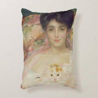 Lady with a Cat, 1904 Decorative Pillow